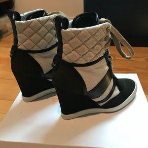Chloe Kasia Lace up Wedge Sneakers